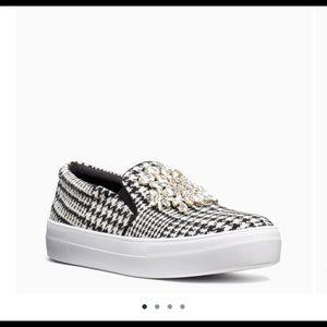 kate spade brand new  embellished slip on shoe